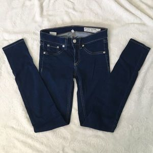 Rag&Bone Blue Skinny Leggings Dark Wash GUC sz 25